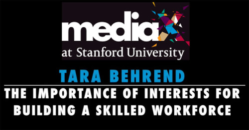 Dr. Behrend Interests Talk at MediaX